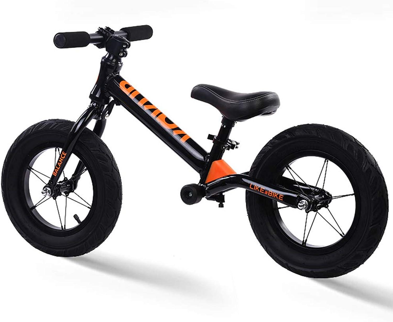 Metal Balance Bicycle 12inch Balance Bike for Kids, No Pedal Bike, Running Walking Training Bicycle, Gift for Boys and Girls,A