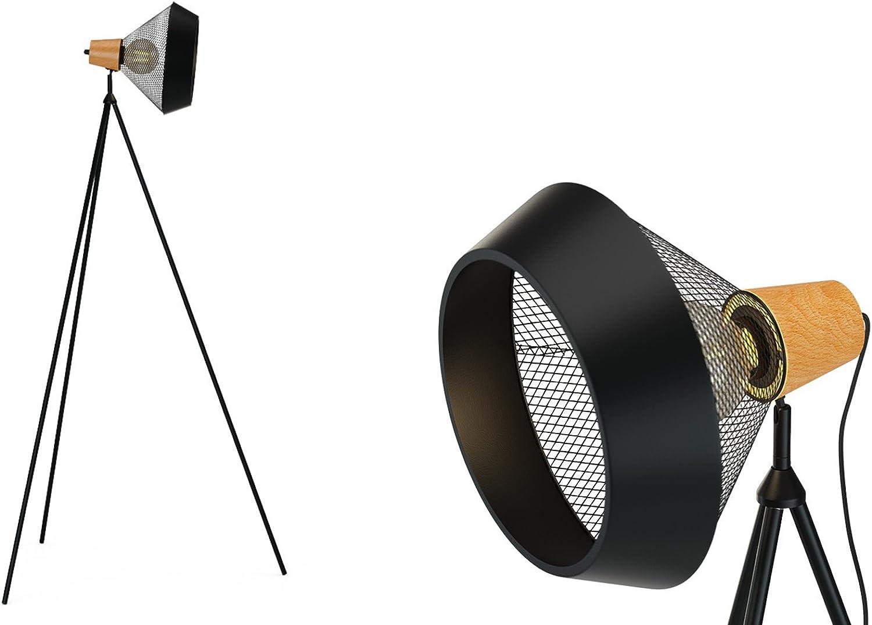 Bpink Cetus Tripod Floor Lamp - Contemporary Tripod Floor Lamp Matte Black (FLPCET03BLK)