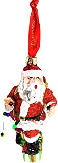Waterford Holiday Heirloom Santa with Lights Glass Ornament, Red