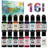 Pigmento Resina Epossidica UV - 16 colori concentrato liquido Resina epossidica colorante trasparente colorato per resina, gioielli, artigianato fai-da-te Art Making (10 ml ciascuno)