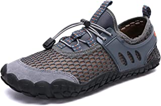 Sponsored Ad - Oauskatan Men's Water Shoes Outdoor Hiking Sandals Quick Dry Barefoot Mesh Diving Shoes