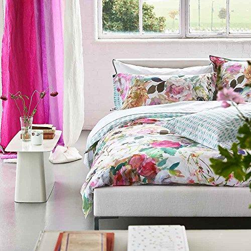 Designers Guild Palissy Housse de Couette, Coton, Camellia, 200x200 cm