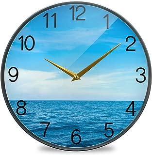 Chovy 掛け時計 サイレント 連続秒針 壁掛け時計 インテリア 置き時計 北欧 おしゃれ かわいい 海 ブルー 可愛い 自然風景 かわいい 部屋装飾 子供部屋 プレゼント