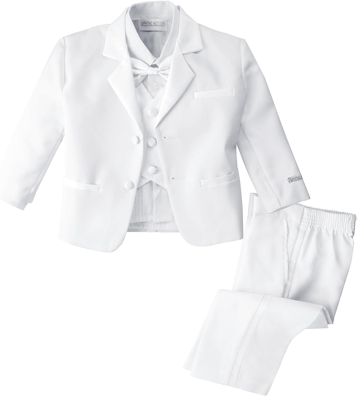 Spring Notion Baby Boys White Classic Fit Tuxedo Set No Tail