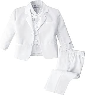 Spring Notion Baby Boys' White Classic Fit Tuxedo Set, No Tail