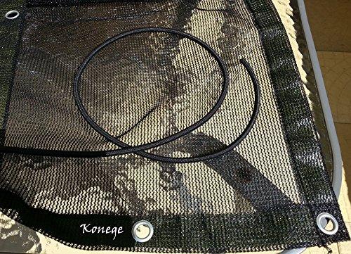 Sandkastenplane 2,0m x 2,0m, randverstärkt, inkl. Gummiseil und Metallösen, Farbe: schwarz, Luft- und wasserdurchlässig!