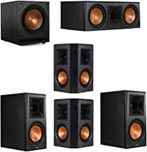 Klipsch 5.1 System with 2 RP-600M Bookshelf Speakers, 1 Klipsch RP-600C Center Speaker, 2 Klipsch RP-502S Surround Speakers, 1 Klipsch SPL-120 Subwoofer