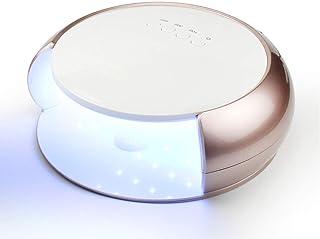 GYNFJK Lámpara de uñas de 48 W, luz de Gel, Fuente de luz Dual, 33 Cuentas de lámpara UV/LED, protección infrarroja Inteligente contra sobrecalentamiento para el hogar y el salón