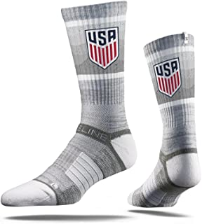 MLS US Soccer MLS Crew Socks , Officially Licensed Mls Athletic Fan Socks. The Most Comfortable Sock On Earth. From Strideline. Loved By Soccer Fans Across Thes, Gray