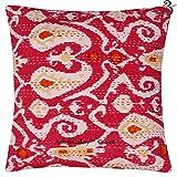 Aakriti Galery Dekokissen-Bezug, indisches Kantha-Design, Baumwolle, handgefertigt, Ikat-Aufdruck,...
