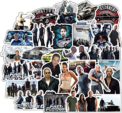 YCYY 50 Speed and Passion Fast and Furious Peripheral Sticker Suitcase Guitar Notebook Stickers