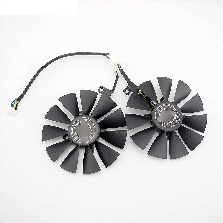 2pcs 87mm Tarjeta gráfica Ventilador de enfriamiento para ASUS Dual GeForce GTX1060-O6G PLD09210S12HH DC12V 0.40A (Blade Color : 2PCS)