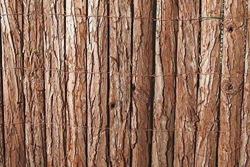 VERDELOOK Arella in Listelli di Corteccia di Pino, 1x3 m, per Decorazioni e recinzioni