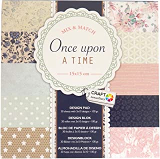 Craft Sensations Paper Printed Design Pad, Once Upon a Time, 30 Sheets, 10 Designs