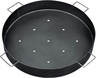 bellissa bac à charbon émaillé - 95585 - barquette pour grill en tôle d'acier émaillée pour emplacement pour feu en gabion...