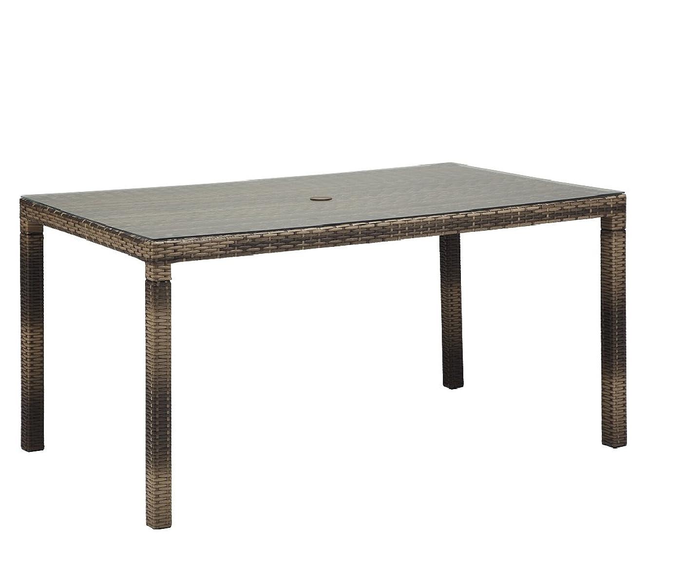ヘルシー止まるなだめるPATIO PETITE パティオプティ SAHARA サハラ ダイニングテーブル ガラス天板付 6人掛け