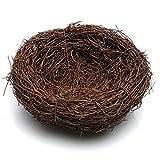 SODIAL Maison de nid d'oiseau Fait a la Main (Vigne), Maison de Nature Artisanat Meilleur pour Le Decor de Mariage, Decor de Fete et Decor a la Maison (diametre DE 5,9 Pouces)