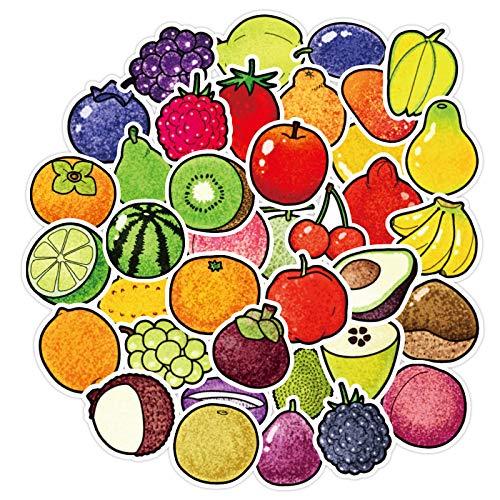 BUCUO Frutta Cute Salt Stickers Piccola Frutta Fresca Decorazione diario Tascabile Adesivi ad Acquerello Adesivi per Alimenti Dipinti a Mano 40 Pezzi