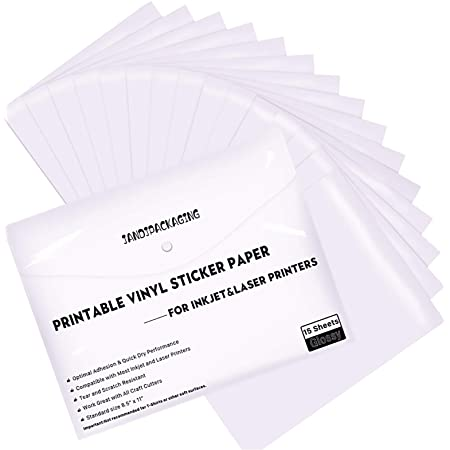 Waterproof Printable Inkjet Glossy Vinyl Sticker Paper 16 Sheets Decal Koala DIY