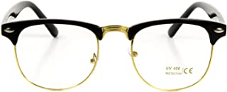 Goson Vintage Nerd Fashion Clear Eyeglasses, Clear Lens Retro Eye Glasses Frames