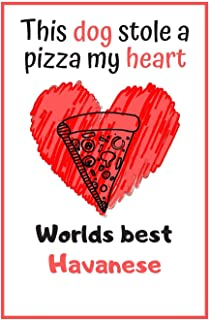 This Dog Stole A Pizza My Heart Worlds Best Havanese: Cute Havanese Dog Diaries Card Quote Journal / Notebook / Diary / Greetings / Appreciation Gift (6 x 9 - 110 Blank Lined Pages)