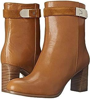 [ナインウエスト] Womens Intimidate Leather Almond Toe Mid-Calf Fashion Boots [並行輸入品]