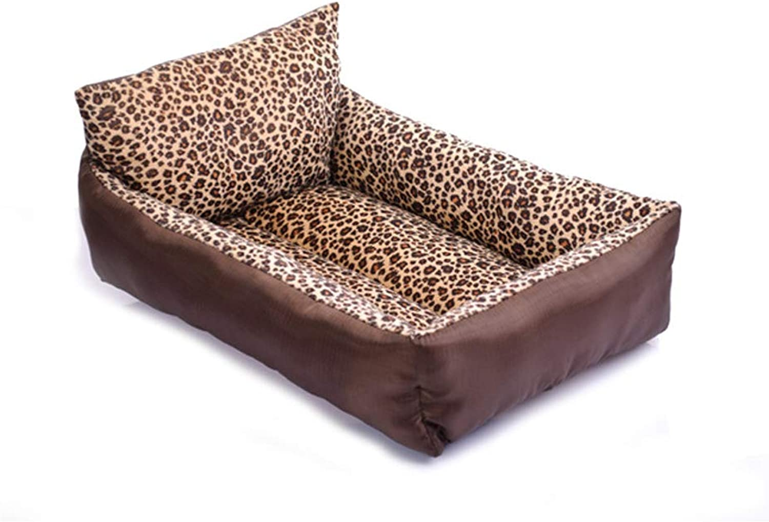 Pet Bed, Pet Kennel cat Litter, Winter Warm Breathable Cat Dog House  Brown,Brown,65  55  14cm