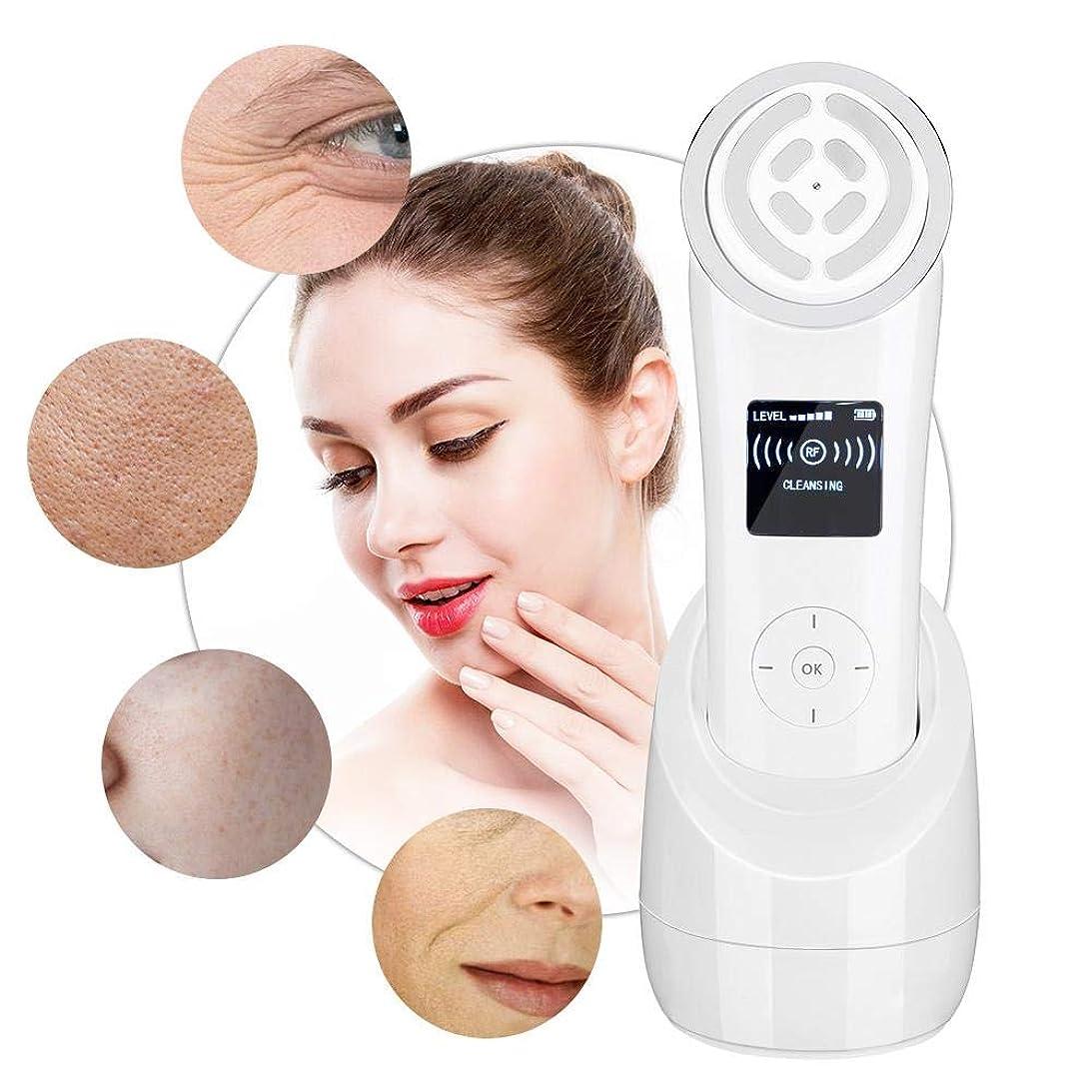 自動化冷える支配する顔の美しさのマシン - RF周波数アンチエイジングアンチリンクル、肌の若返り楽器 - ポータブル若返り肌がEMS筋肉刺激を強化(UE)