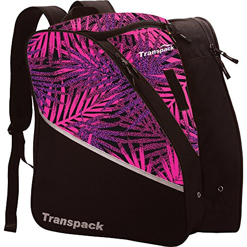 Transpack Edge Junior Ski Boot Bag 2017 - Pink-Purple-Black Palm