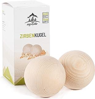 DOPPELPACK – saltburgare cirkelkula 7 cm av 100 % naturligt cirkulärt trä av österrikiska alpen i presentförpackning