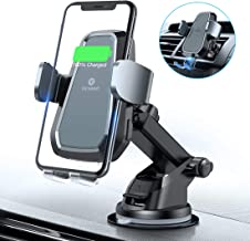 VICSEED Motorized Wireless Car Charger, 2019 Upgraded Fast Wireless Charging Car Mount, Qi Car Mount Charger Wireless Fit for iPhone Xs Max XR X 8 Plus, Fit for Samsung Note 9 8 S10 S9 S8 Plus LG etc.