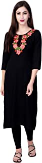 GOD BLESS Black Colored Embroidery Kurti