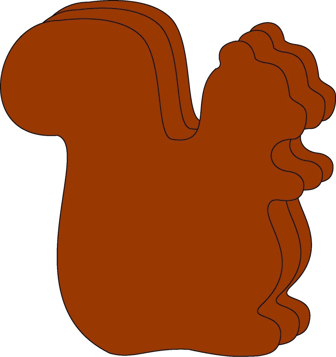 Squirrel Large Finally resale start Single Recommended Color Creative Cut-Outs 31 S x 5.5