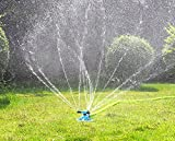 Aspersor para césped PriMI, de impulso, sistema de largo alcance, resistente, de rotación, con tres brazos, para jardín, césped o para que jueguen los niños