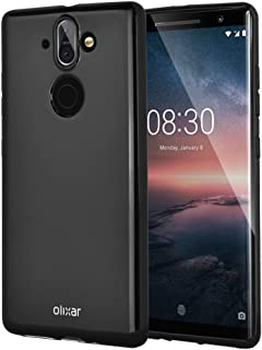 Olixar for Nokia 8 Sirocco Gel Case - Flexible Slim Silicone TPU - FlexiShield - Thin Protective Cover - Wireless Charging Compatible - Black