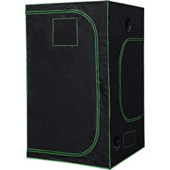 Nova Microdermabrasion 48'' x 48''x 80'' Mylar Hydroponic Grow Tent with Observation Window and Floor Tray, High Reflective Growing Tent Room for Indoor Plant Fruit Flower Veg