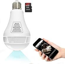 wifi light bulb hidden security camera