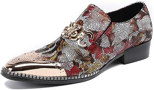 XLY Mocassins Oxford Oxford de Smoking Classiques pour Hommes, Chaussures de discothèque à Paillettes texturées texturées, Chaussures de soirée  jusqu'à 60% de réduction