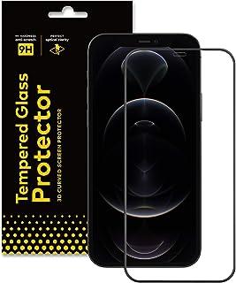 RhinoShield iPhone 12 Pro Max 強化ガラス画面保護プロテクター - 9H 3Dガラスフィルム 全面カバー/高透明度 高耐傷性