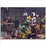JieXi Mi binbin Puzzle de Papel para Adultos Navidad 38x26cm Mini 1000 Piezas Juguetes para Hombres y Mujeres