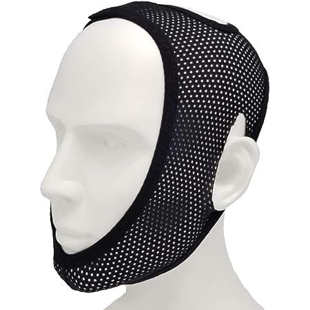LUSAS いびき防止グッズ 睡眠用 顎サポーター メッシュ素材 通気性 あごサポーター いびき 鼻呼吸 いびき防止 フリーサイズ