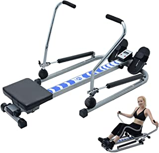 Rowing Machine,Rowing Machine Foldable Indoor Adjustable Resistance with Digital Display,Rowing Machine for Home Use Fitne...