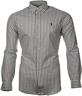 916fad2a189 Ralph Lauren Polo Men's Custom Fit Poplin Shirt White Navy Black S - XXL