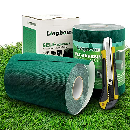 Single-Sided Turf Adhesive for Seaming Sections of Synthetic Turf, Artificial Grass Seam Tape, 6in x 33ft