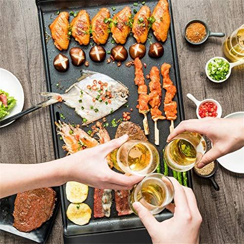 6132E8hR1bL - Elektrogrill Grillpfanne im koreanischen Stil multifunktionalen Grill zu Hause elektrische Nicht-Grillpfanne Rauch Antihaft- Grillpfanne Innen-Grill
