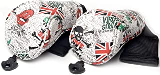 GOOACTION Golf Head Covers for Driver/Fairway Wood/Iron/Hybrid/Putter Creative British UK Flag Pattern Golf Club Headcover