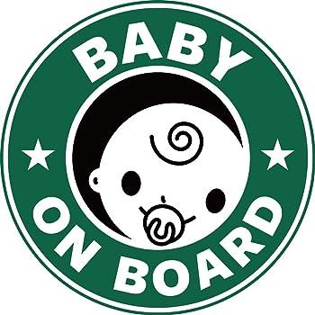 Exproud製 BABY ON BOARD 赤ちゃんが乗っています マグネット ステッカー 直径15cm 男の子用 あおり運転対策