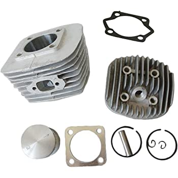JRL Piston And Piston Rings Set Fits For 50cc 2 Cycle Motorized Bike Bicycle