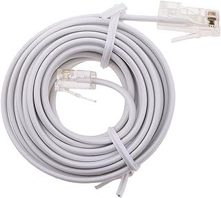 RJ11 ADSL to Ethernet RJ45 Modem Cable 8P 4C 6P 4C ASDL Patch Wire 4 Pin
