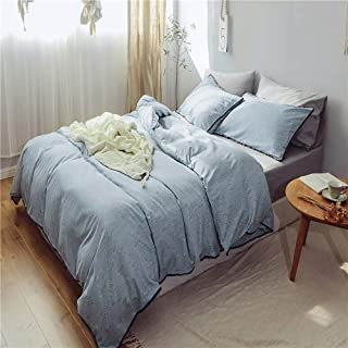 feelyou 3 Pieces Duvet Cover Set Lightweight and Soft 100% Cotton Bedding Cover Set Flowers Branches Printing Comferter Cover Sets Style B King Size